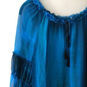 Tops - Elie Tahari   💯% Silk blouse   Frill collar   M